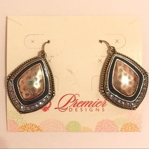 Premier Designs Jewelry - Premier Designs Silver And Blue Stone Earrings